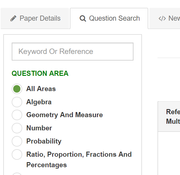 Create A Test Question Search